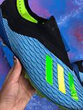 Бутсы Adidas X 18.1/ футбольная обувь без шнурков, фото 6