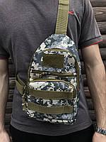Сумка через плечо мужская слинг камуфляж, фото 1