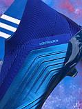 Бутсы Adidas Predator 18+FG/ копы адидас предатор с носком/без шнурков(реплика), фото 3