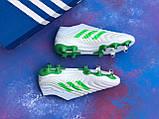 Бутси Adidas Copa 19+FG/AG White/адідас копа/без шнурків(репліка), фото 5