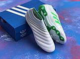 Бутси Adidas Copa 19+FG/AG White/адідас копа/без шнурків(репліка), фото 6