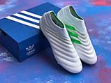 Бутси Adidas Copa 19+FG/AG White/адідас копа/без шнурків(репліка), фото 7