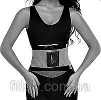 Пояс-корсет для підтримки спини PowerPlay 4305 Чорно-сірий 110*24 см