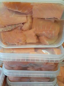 Филе лосося (Сёмга0 малосольные куски  500 грамм