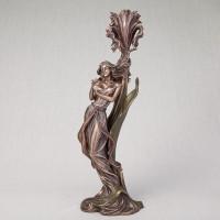 """Підсвічник """"Дівчина з метеликом"""" (36 см) (10280A4)"""
