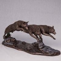 """Статуетка """"Вовки в гонитві"""" (37*18 см) (73125A4)"""