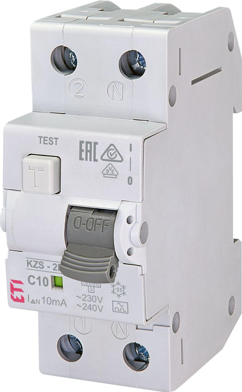 Дифавтомат ETI KZS 2M 1+Np 10A C 10mA 10kA 2173232