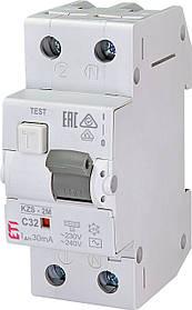 Дифавтомат ETI KZS 2M 1+Np 32A C 30mA 10kA 2173127