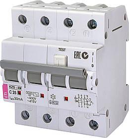 Дифавтомат ETI KZS 4M 3+Np 25A C 30mA 6kA 2174026