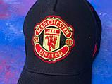 Бейсболка / кепка фк Манчестер Юнайтед/Manchester United/чоловіча/жіноча/Чорна, фото 4