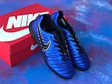 Стоноги Nike Tiempo Ligera IV TF многошиповки найк темпо тиемпо бампы лигера, фото 5