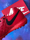 Сороконожки Nike Tiempo Ligera IV TF многошиповки найк темпо тиемпо бампы лигера рональдиньо многошиповки, фото 8