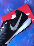 Сороконожки Nike Tiempo Ligera IV TF многошиповки найк темпо тиемпо бампы лигера, фото 7
