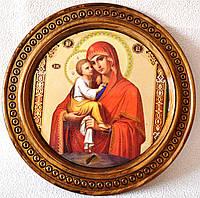 """Деревянная тарелка (икона) """"Почаевская"""""""