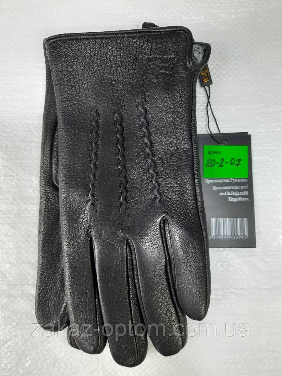 Мужские перчатки оптом кожа оленья(10,5-12,5)Румыния 20-2-07 -63203