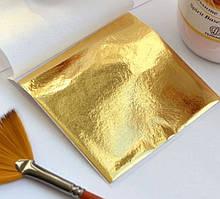 """Поталь листова, """"золото класичне""""розмір 8,5х8 см, 25 аркушів, номер 2.5"""