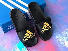 Сланцы/шлепки Adidas (золотые)/шлепанцы/Adidas/ адидас/