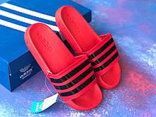 Сланцы/шлепки Adidas /шлепанцы/ адидас/красные