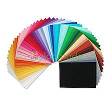 Фетр корейский жесткий 1.2 мм в наборе 54 цвета, 22x30 см