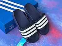 Сланцы/шлепки Adidas /шлепанцы/ адидас/темно-синие