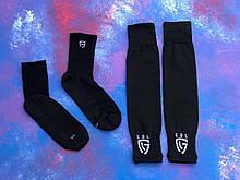 Гетры футбольные без носка + носки GUL комплект спортивные носки для футбола