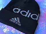Шапка Adidas/ шапка адідас/ шапка жіноча \шапка чоловіча/шапка чорна, фото 6
