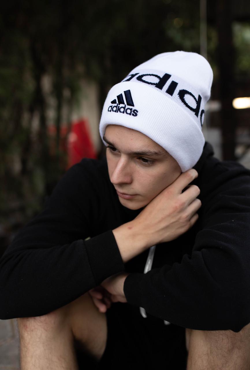Шапка Adidas/ шапка адидас/ шапка женская \шапка мужская/шапка белая
