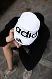 Шапка Adidas/ шапка адидас/ шапка женская \шапка мужская/шапка белая, фото 2