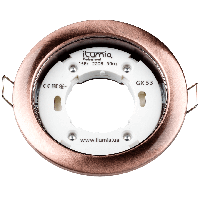 Светильник Ilumia под лампу GX53 Медь 90mm круг врезной (053)