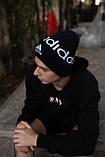 Шапка Adidas/ шапка адідас/ шапка жіноча \шапка чоловіча/шапка темно-синя, фото 2