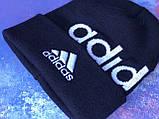 Шапка Adidas/ шапка адідас/ шапка жіноча \шапка чоловіча/шапка темно-синя, фото 8