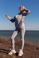 Женский утепленный спортивный костюм на флисе разные цвета