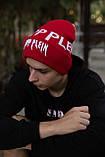 Шапка Philipp Plein/Шапка Філіп Плейн/Шапка чоловіча/шапка жіноча/шапка червона, фото 2