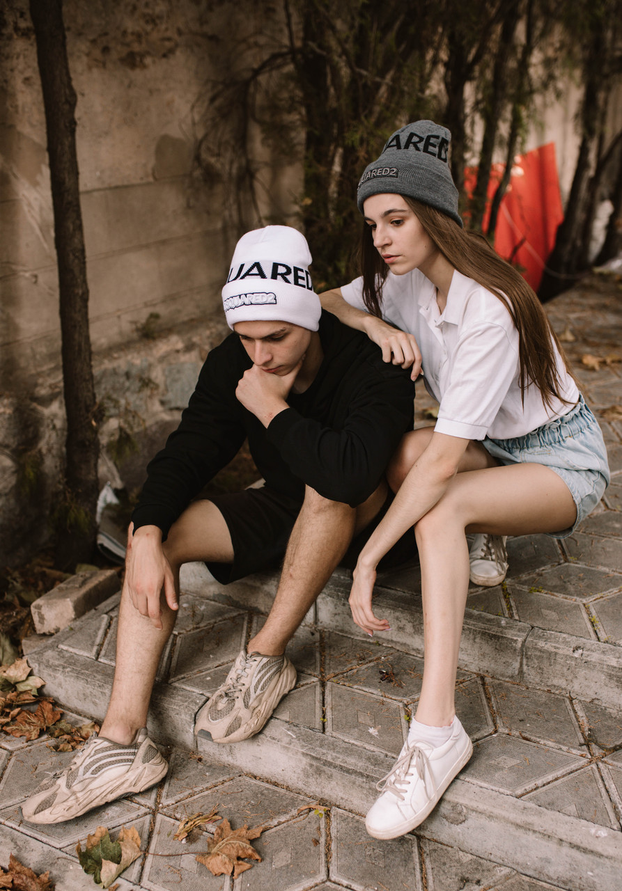 Шапка Dsquared2/Шапка Дискваред/шапка жіноча/шапка чоловіча/шапка біла