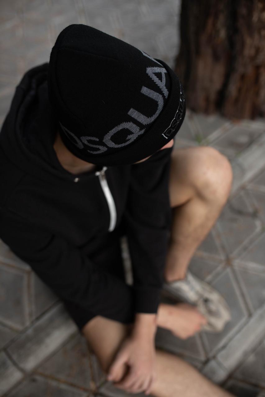 Шапка Dsquared2/Шапка Дискваред/шапка жіноча/шапка чоловіча/шапка чорна