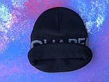 Шапка Dsquared2/Шапка Дискваред/шапка жіноча/шапка чоловіча/шапка чорна, фото 8