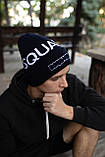 Шапка Dsquared2/Шапка Дискваред/шапка женская/шапка мужская/шапка темно-синий, фото 2