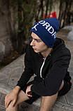 Шапка JORDAN/Шапка Джордан/шапка мужская/шапка женская/шапка синяя, фото 2