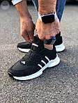 Мужские кроссовки Adidas Black/White (черно-белые) 549TP, фото 2