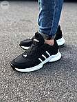 Мужские кроссовки Adidas Black/White (черно-белые) 549TP, фото 7