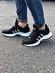 Мужские кроссовки Adidas Black/White (черно-белые) 549TP, фото 6