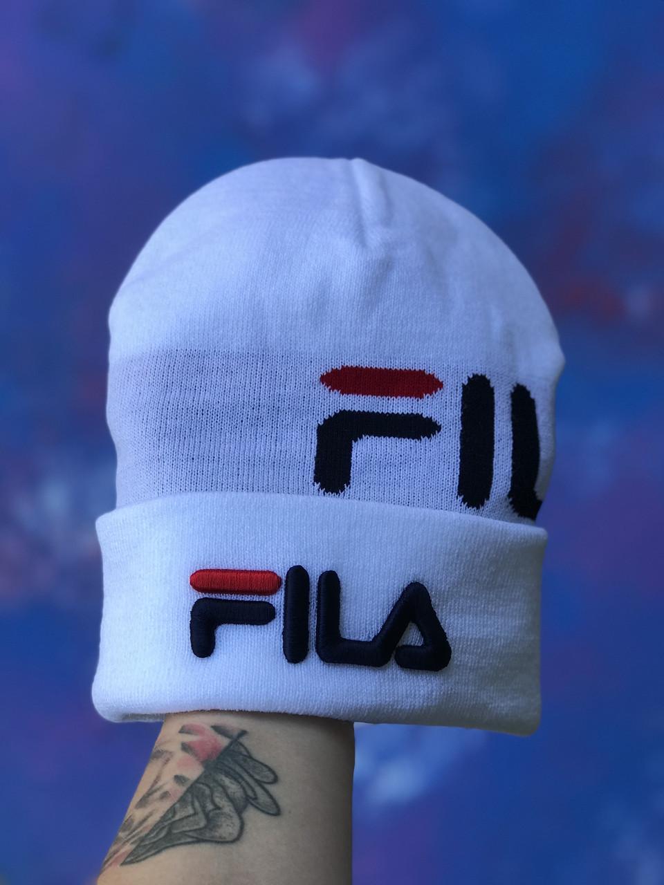 Шапка FILA/Шапка філа/шапка жіноча/шапка чоловіча/шапка біла