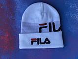 Шапка FILA/Шапка філа/шапка жіноча/шапка чоловіча/шапка біла, фото 2