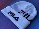 Шапка FILA/Шапка філа/шапка жіноча/шапка чоловіча/шапка біла, фото 3