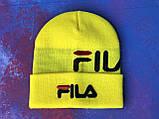 Шапка FILA/Шапка філа/шапка жіноча/шапка чоловіча/шапка жовта, фото 3