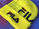 Шапка FILA/Шапка філа/шапка жіноча/шапка чоловіча/шапка жовта, фото 4