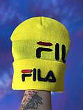 Шапка FILA/Шапка філа/шапка жіноча/шапка чоловіча/шапка жовта, фото 7
