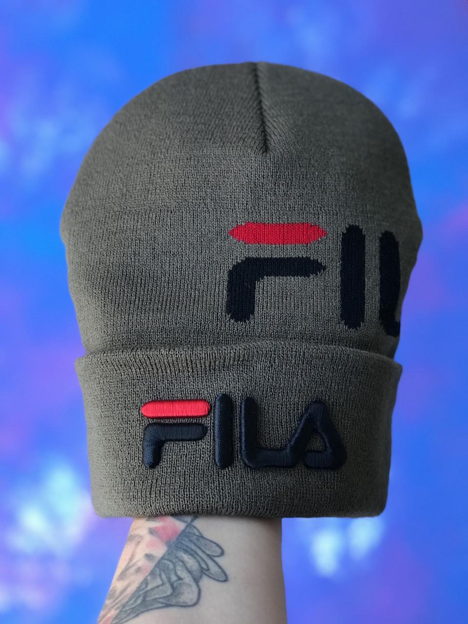Шапка FILA/Шапка філа/шапка жіноча/шапка чоловіча/шапка хакі