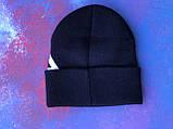 Шапка FILA/Шапка фила/шапка женская/шапка мужская/шапка темно-синяя, фото 3