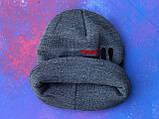 Шапка FILA/Шапка фила/шапка женская/шапка мужская/шапка серая, фото 5